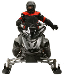 Snowmobiler hand signal for slowing
