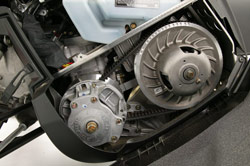 Clutch cover and drive belt