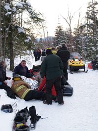 Snowmobiling accident