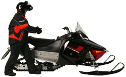 Starting your snowmobile via the pull method