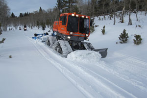 Trail grooming machine