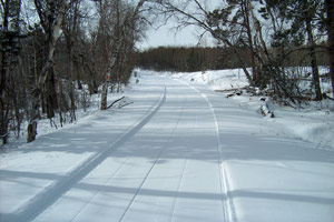Recently groomed trail