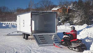 Sport Haven 8 5 X 12 Hybrid Enclosed Two Place Snowmobile Trailer